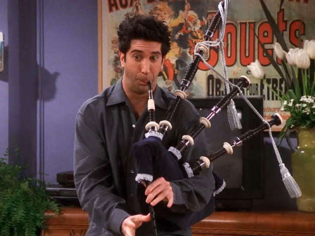 bagpipes1 This Hilarious Friends Blooper Is Going Viral, And Its Easy To See Why