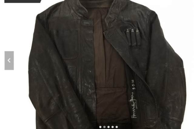 Harrison Fords Auctioning Off Han Solos Jacket For A Very Good Cause leather jacket 640x426