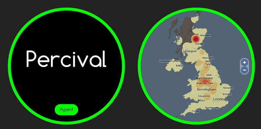 This Website Knows Where Youre From And How You Met Your Partner name percival 1