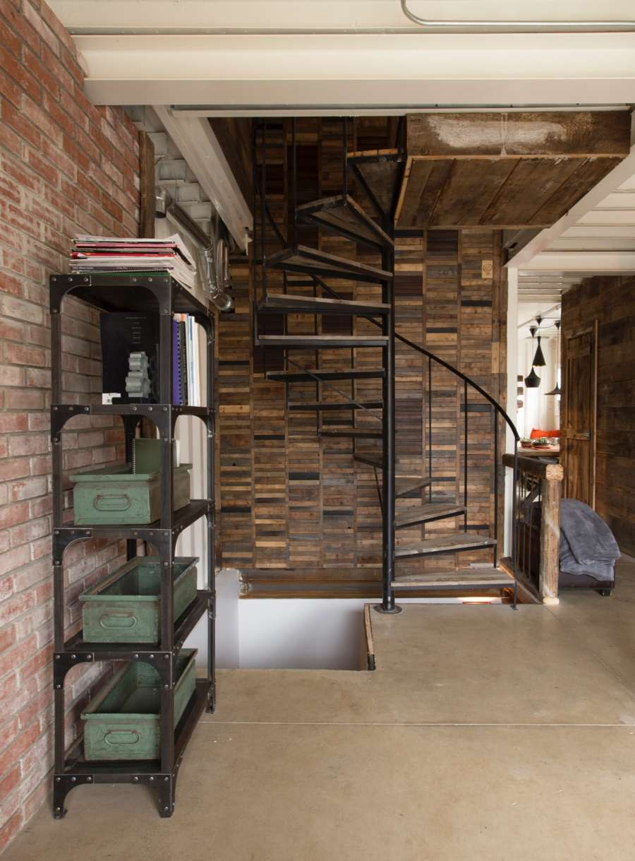 stairs This Woman Built An Insanely Cool Home From A Shipping Container