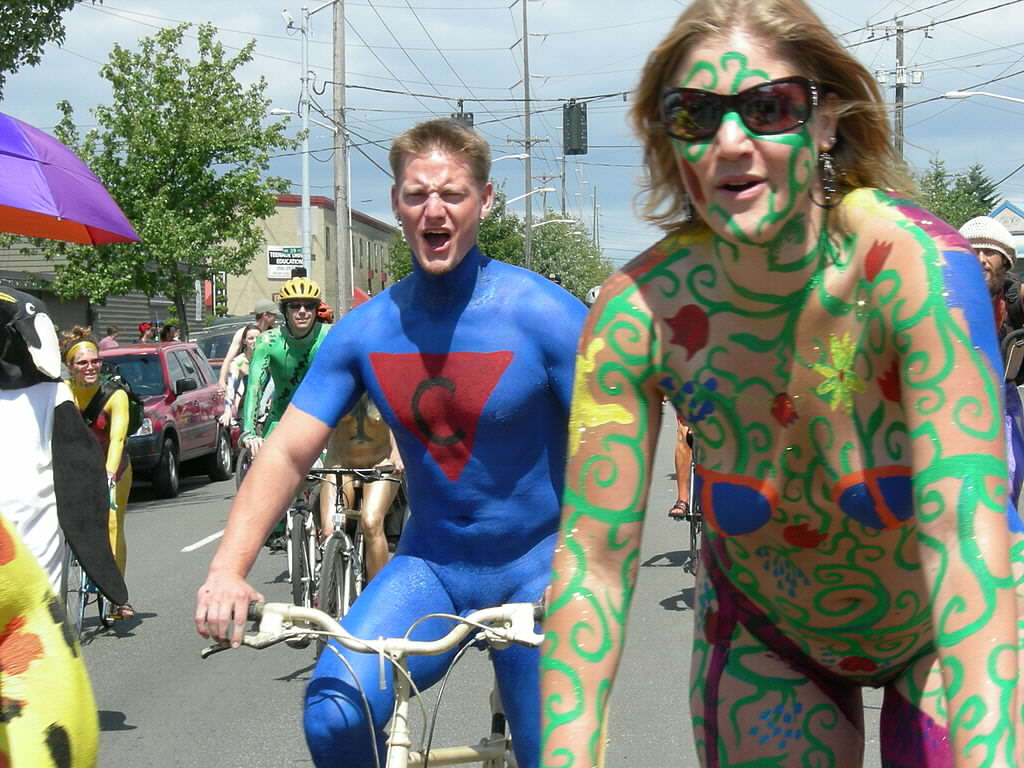 wikimedia 2 Naked Cyclists Cause Social Media Tsunami, And Not For The Reason Youd Think