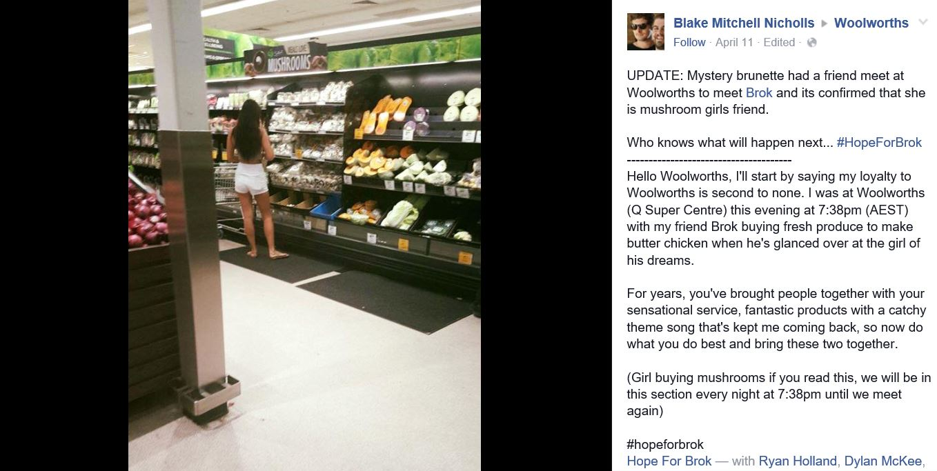 Capture 16 Guys Hunt For The Girl Of His Dreams In Supermarket Causes Online Sh*tstorm