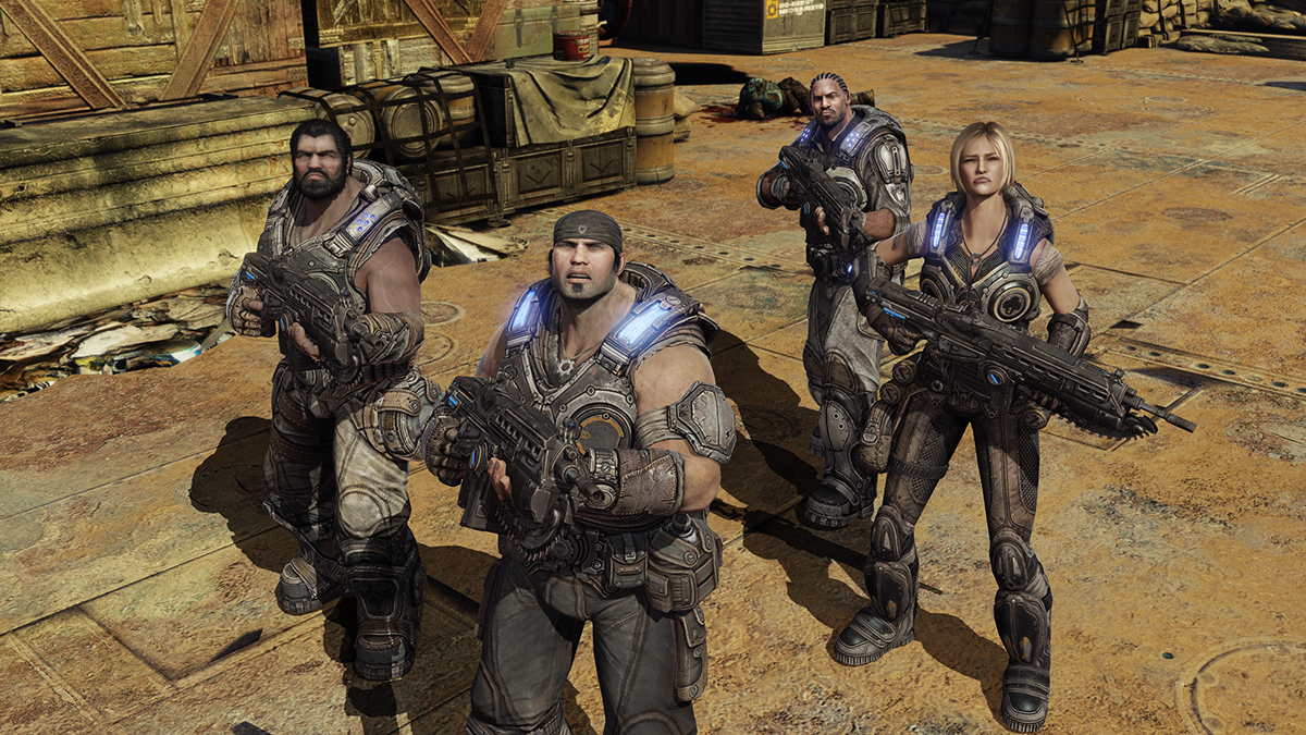 Gears of War 3 campaign screenshot featuring Marcus Fenix and Delta Squad The 10 Greatest Xbox 360 Games Of All Time
