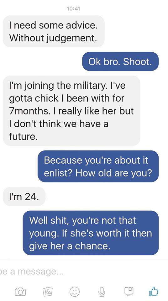 Jodie1 Guy Tells Stranger Hes Sleeping With Soldiers Wife, Instantly Regrets It