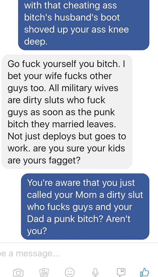 Jodie7 Guy Tells Stranger Hes Sleeping With Soldiers Wife, Instantly Regrets It