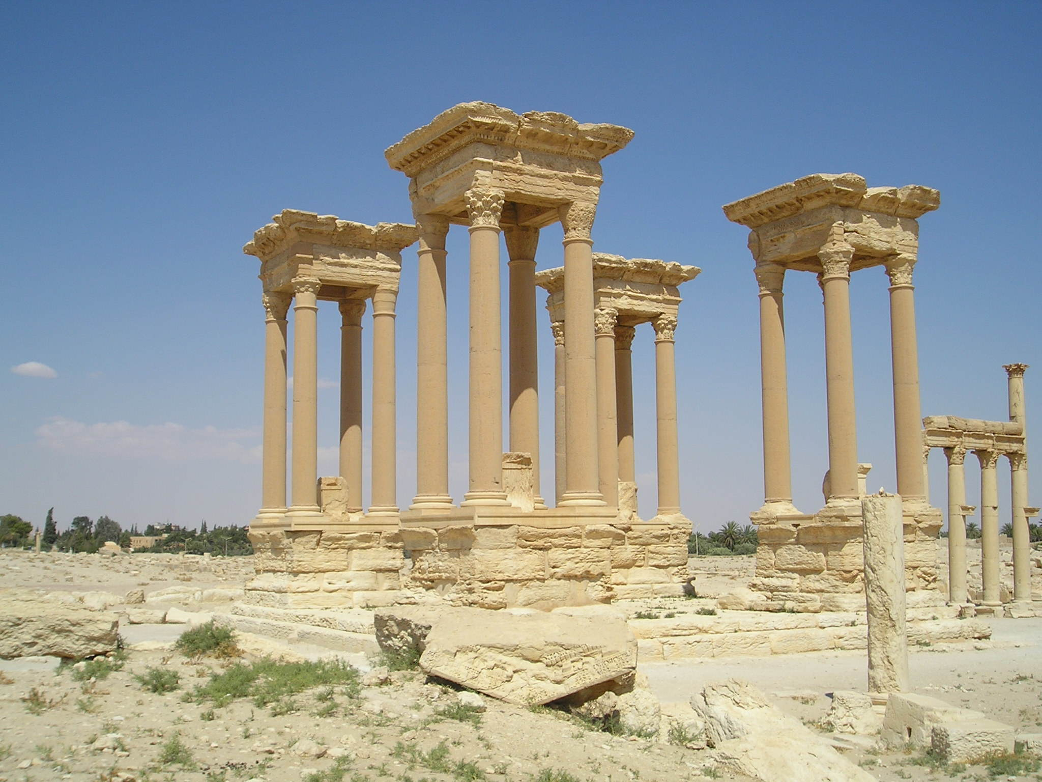 Palmyra Tetrapylon Shocking Photos Show How An Ancient City Was Destroyed By ISIS