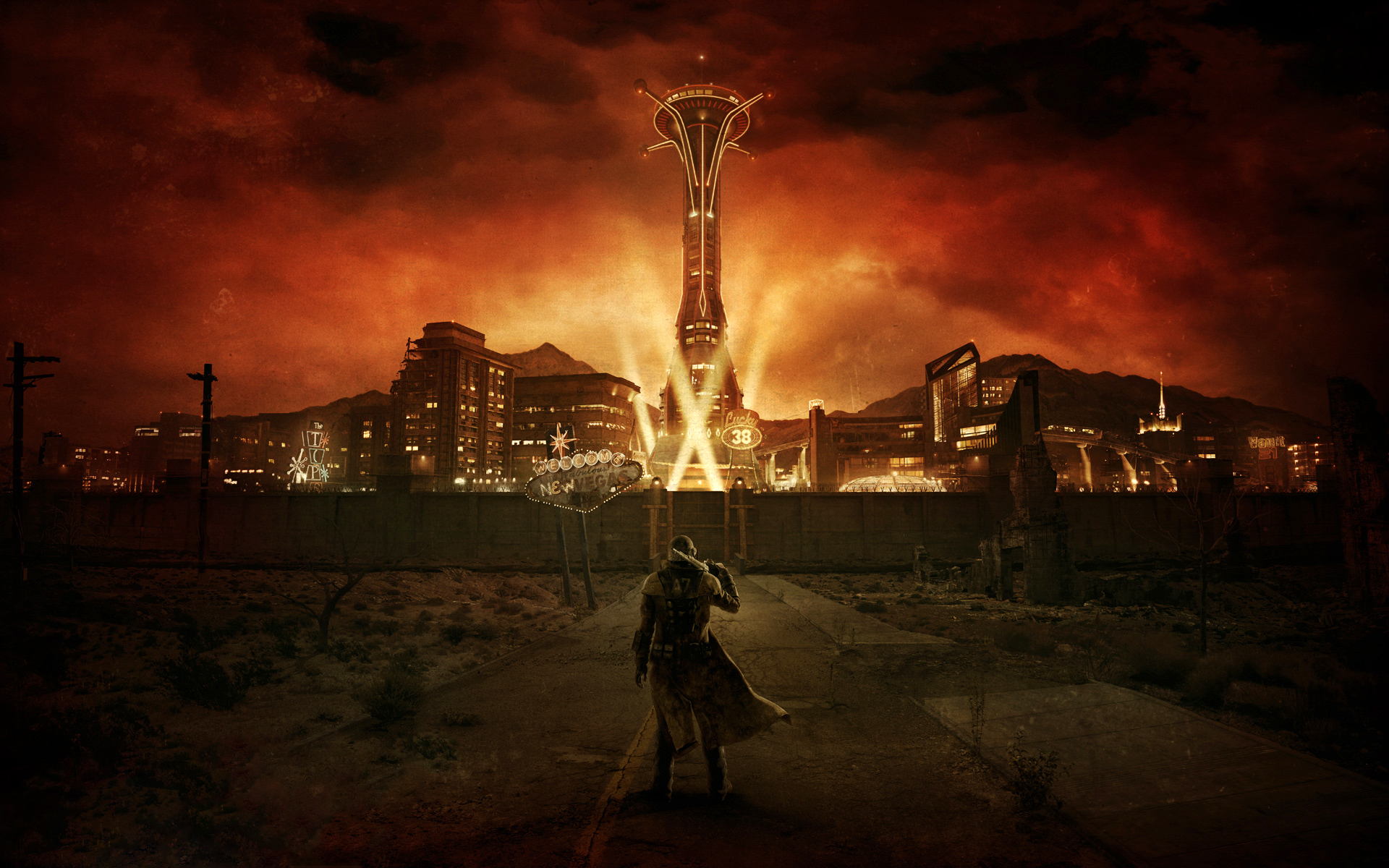 Ranger at New Vegas entrance Relive Fallout: New Vegas As A YouTube Choose Your Own Adventure Game