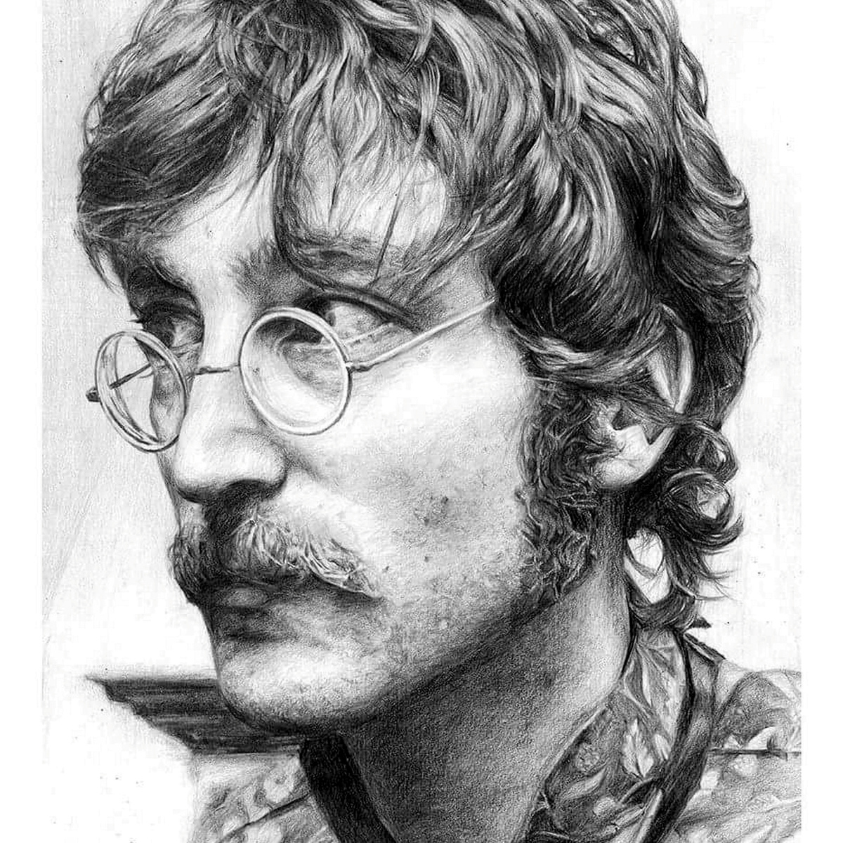 SWNS BEATLES DRAWINGS 04 Former Model Now Creates Incredible Photo Real Portraits Using Pencil