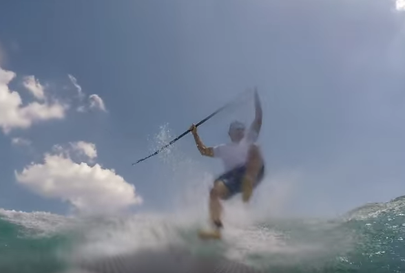 Shocking Moment Paddleboarder Is Knocked Down By A Shark Screen Shot 2016 04 09 at 10.49.41