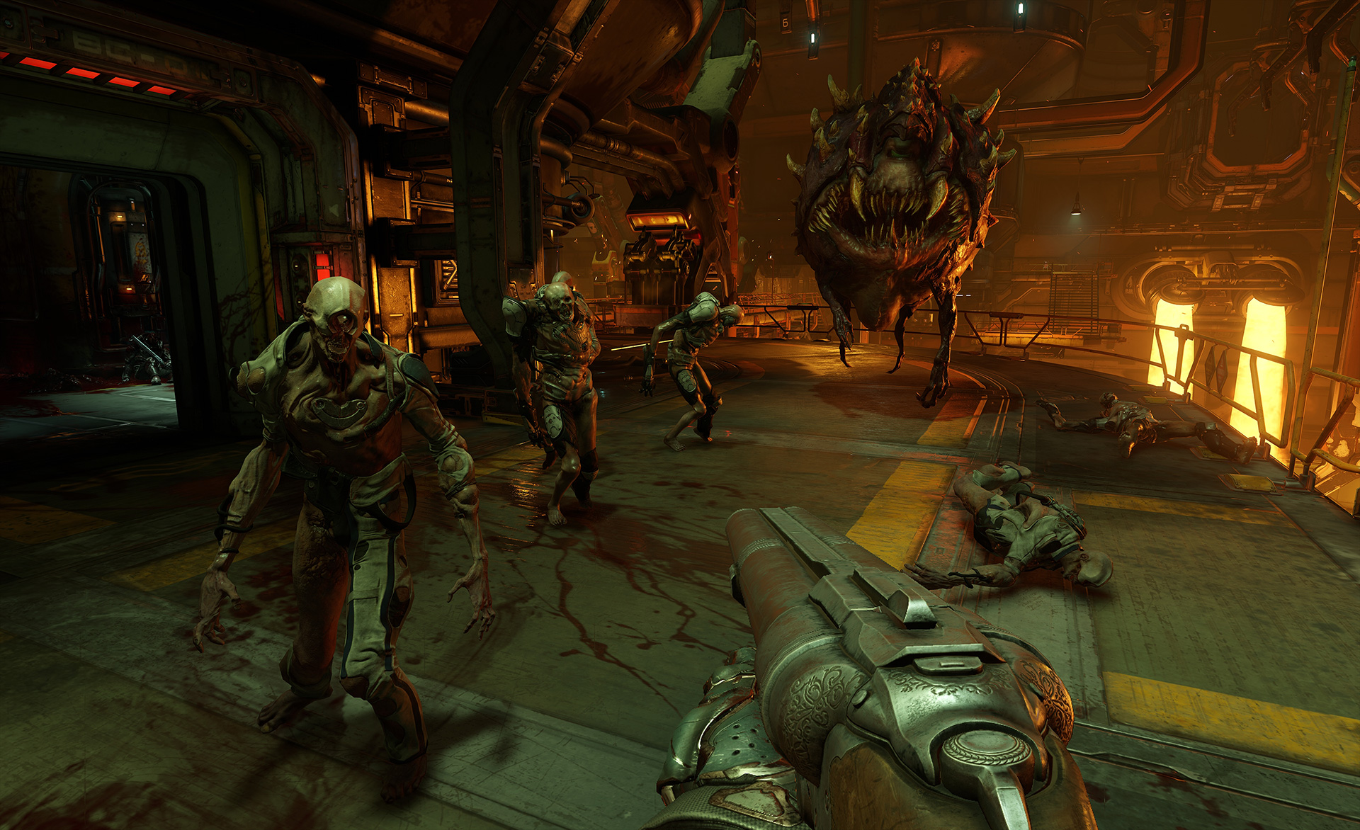 DOOM Hides An Awesome Retro Secret In Every Mission doom unwilling cacodemons screenshot 1920.0