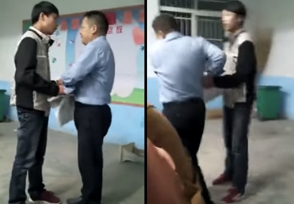 Shocking Video Of Teacher Getting Beaten By Students Goes Viral fight 1