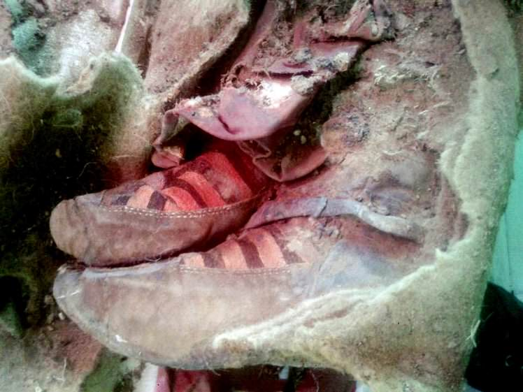 mummy1 Discovery Of Ancient Adidas Trainers Could Prove Time Travel Exists