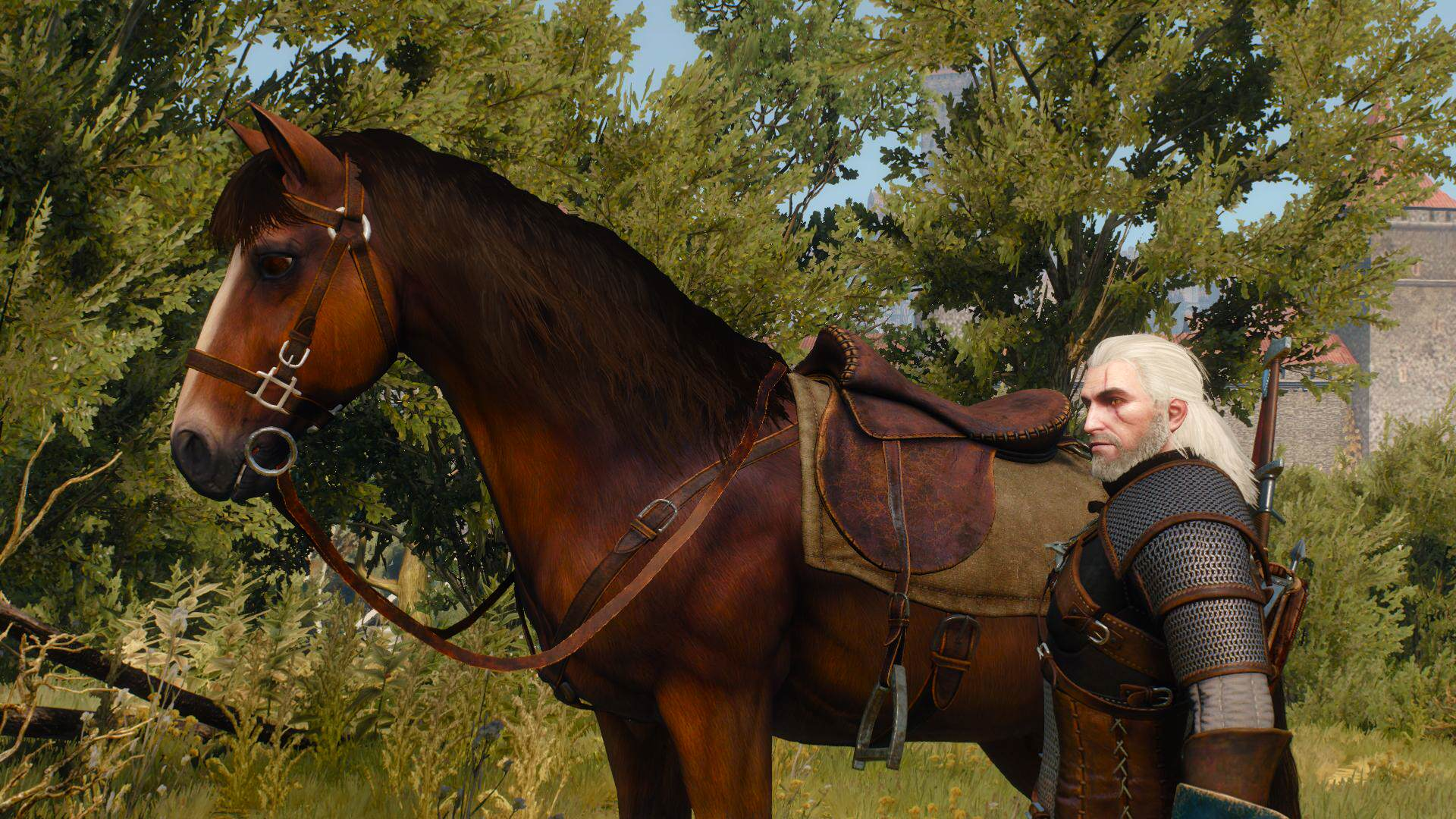 the witcher 3 wild hunt nvidia hairworks horse This Witcher 3 April Fools Prank Is Incredible