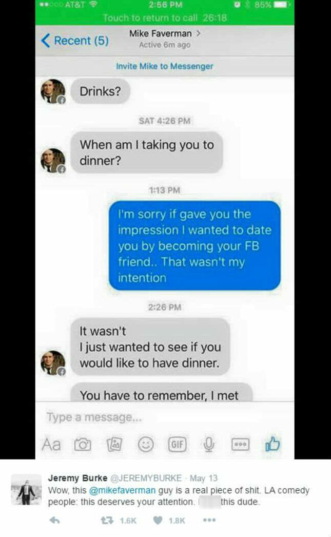 3972 1acz753 1 The Internets Not Happy After Comedian Sends Brutal Message To Woman Who Rejected Him