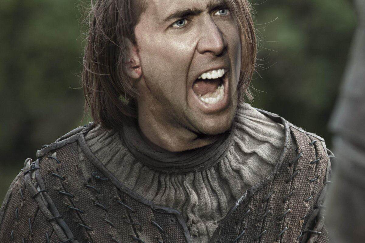 arya stark 1200x800 Nicolas Cage As Every Game Of Thrones Character Is Hilarious