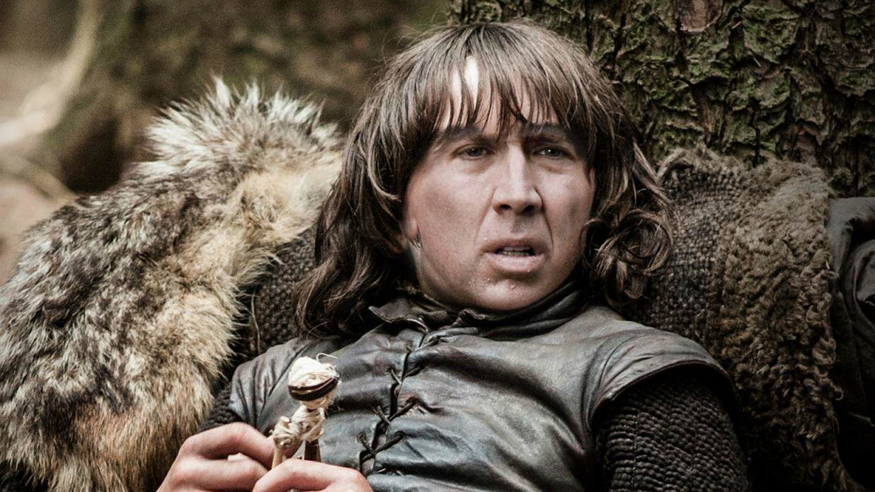 bran stark Nicolas Cage As Every Game Of Thrones Character Is Hilarious