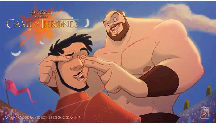 Artist Re Imagines Game Of Thrones As Disney Film And Its Glorious disney1
