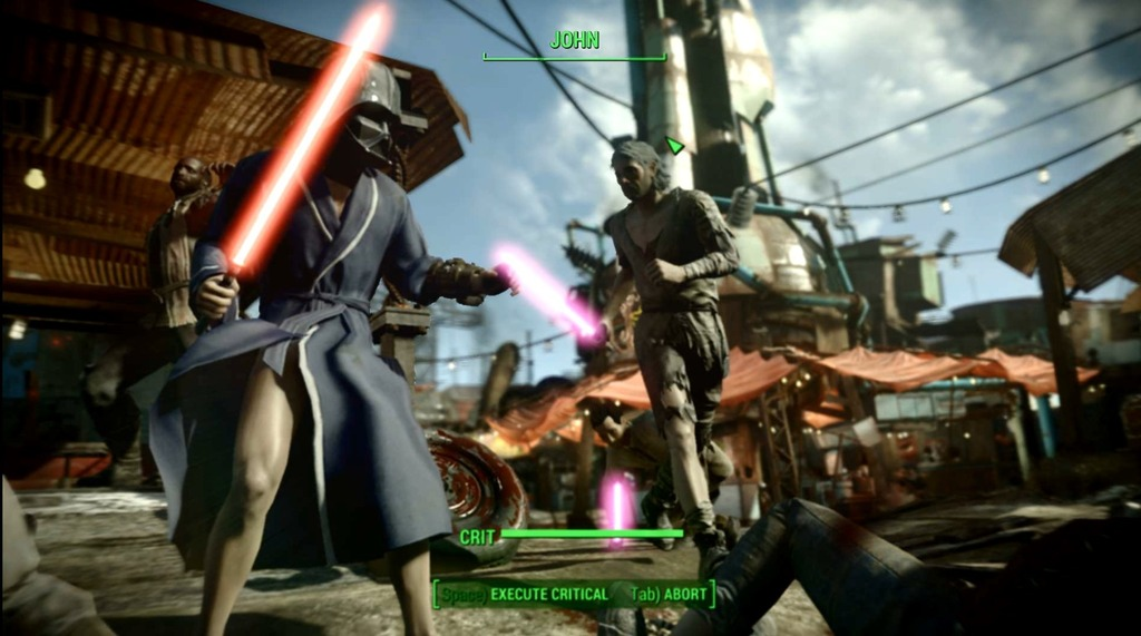 Nine Games With Awesome Star Wars Mods fallout 4 lightsaber vader mask