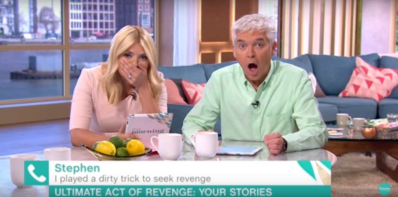 hilarious This Morning Presenters Shocked After People Reveal Their Revenge On Cheating Exs