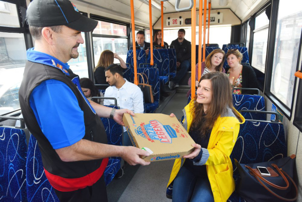 pizza bus 46 Dominos New Delivery Scheme Is Amazing News For Drunk Commuters