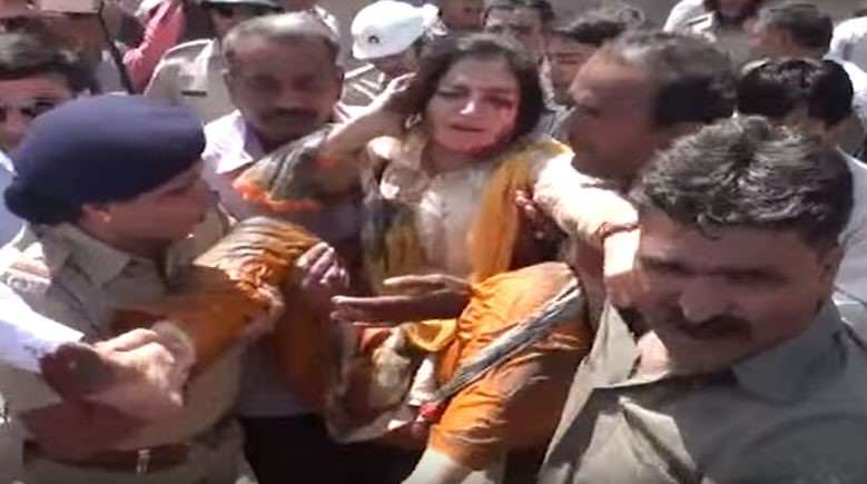 Unlucky MP Falls Into Massive Sewer During Live Interview poonam2