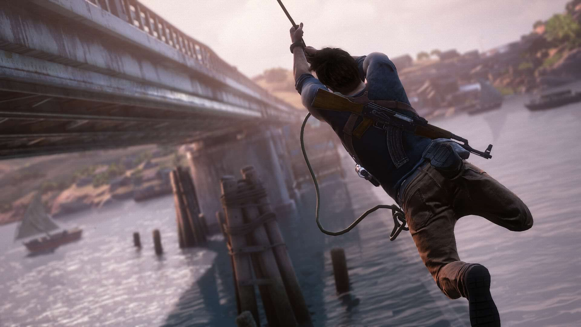Who Should Play Drake In The Uncharted Movie? 2759115 uncharted 4 drake rope bridge 1434429051