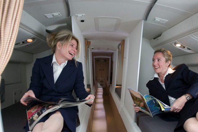 9E12wkJ 640x426 Revealed: The Secret Room On Airplanes Just For Flight Attendants