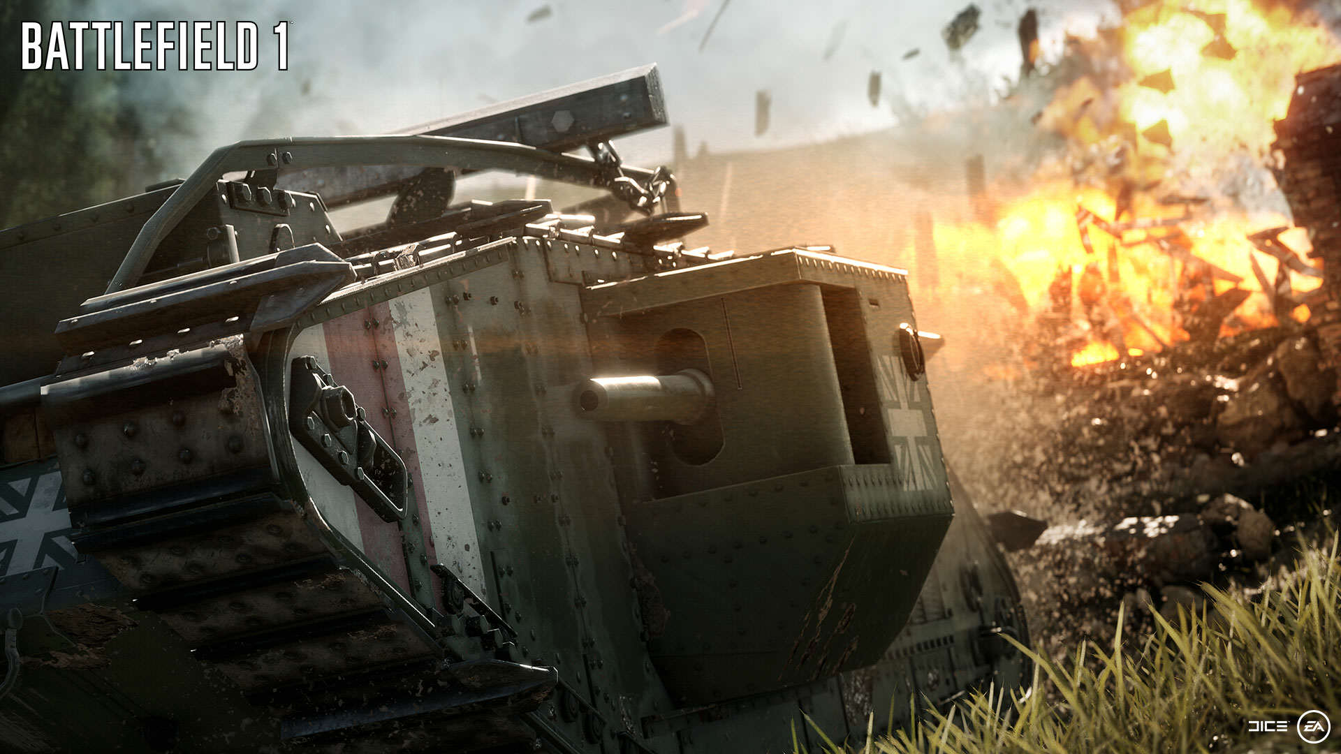 BF1 EA PLAY 02 DESTRUCTION WM Battlefield 1 Gets Epic New Trailer And Gameplay Features