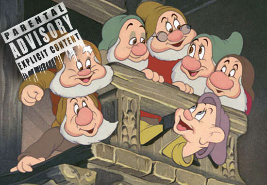 dwarfs1 1 Disney Rejected These Dwarfs From Snow White For Being Too Offensive