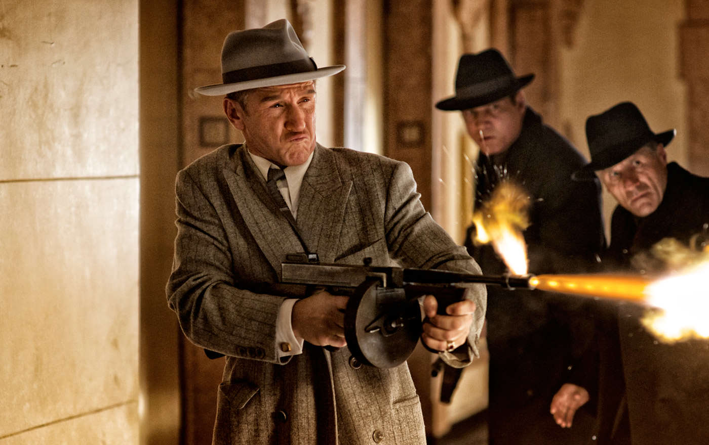 Teens On First Lads Holiday End Up In Middle Of Mafia Gun Battle gangster squad movie image sean penn
