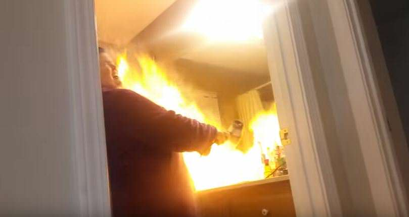 hair 4 Man Pranks Wife With Talcum Powder Hairdryer, Goes Horribly Wrong