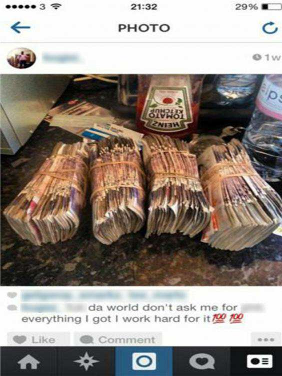 money3a These Criminals Got Caught Out After Bragging On Social Media