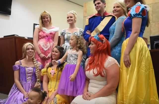 Court Officials Went Extra Mile To Give A Little Girl A Fairy Tale Adoption princess 1 640x420