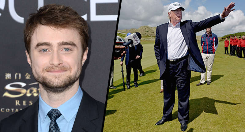 radcliffe trump FB Daniel Radcliffe Reveals Weird Advice Donald Trump Gave Him As A Child