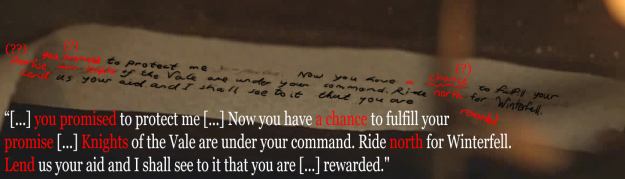 sansa Game Of Thrones Fans May Have Just Figured Out What Sansas Letter Said