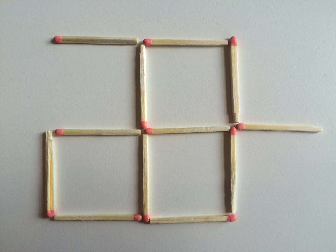2 This Toothpick Puzzle Is Confusing The Sh*t Out Of The Internet