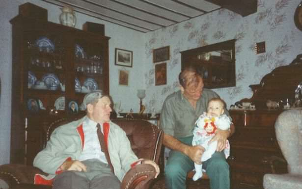 Kimberleys late great uncle Donald Kens brother in law married to his sister Marjorie Ken and Kimberley as a baby Woman Reveals What Growing Up In House In Middle Of M62 Was Like