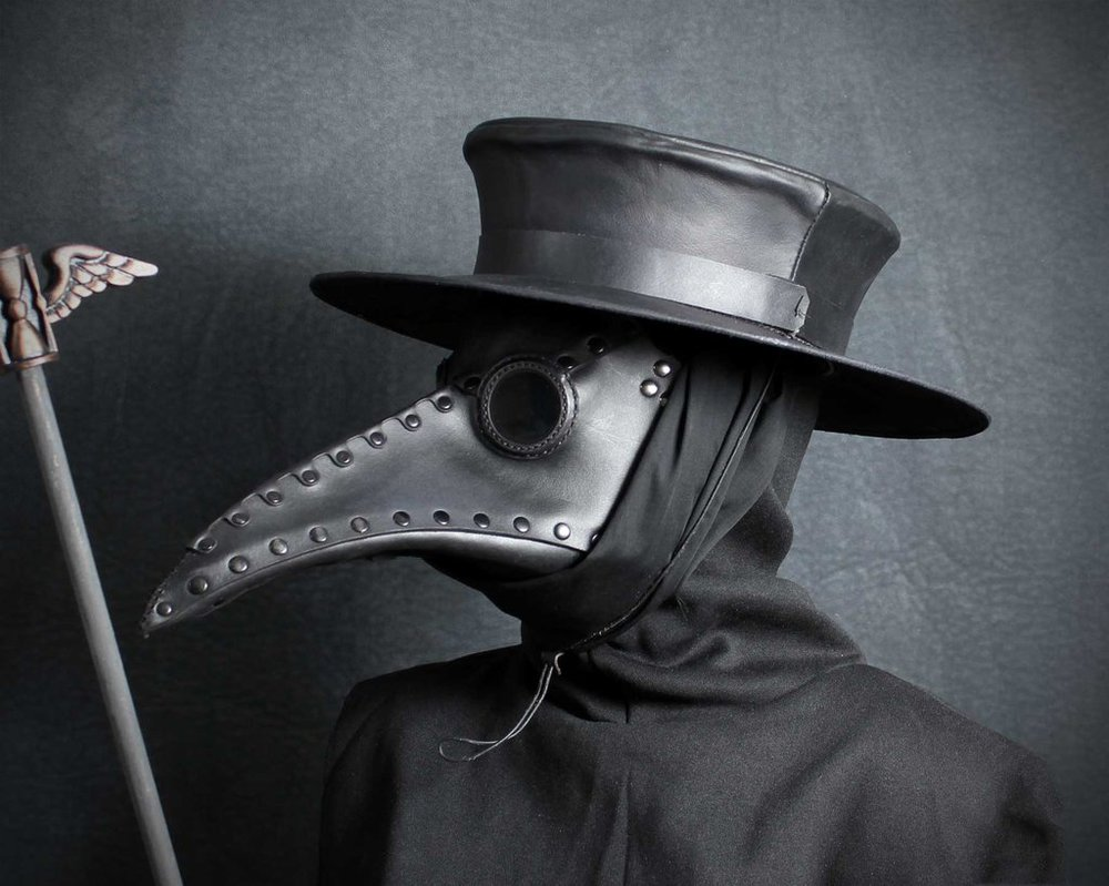 Boy, 10, Catches Bubonic Plague From Rodent Plague doctor hat by tombanwell d6bzaad