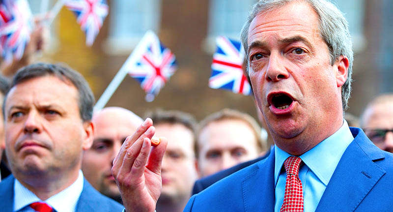 Could Nigel Farage Secretly Be Planning To Join The Tory Party? face far