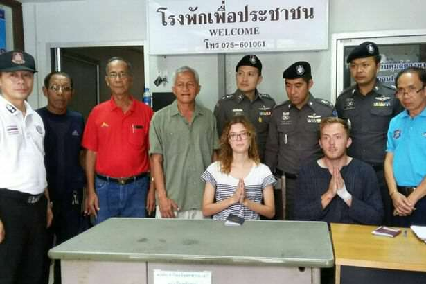 foreign couple having sex in public in Thailand Couple Caught Performing Public Sex Act Face Further Embarrassment