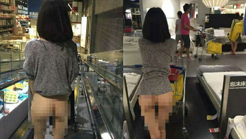 half naked woman in ikea1 Naked Girl Spotted In IKEA But Was It A Publicity Stunt
