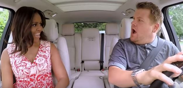 michelle obama Michelle Obama Takes A Spin With James Corden In Carpool Karaoke