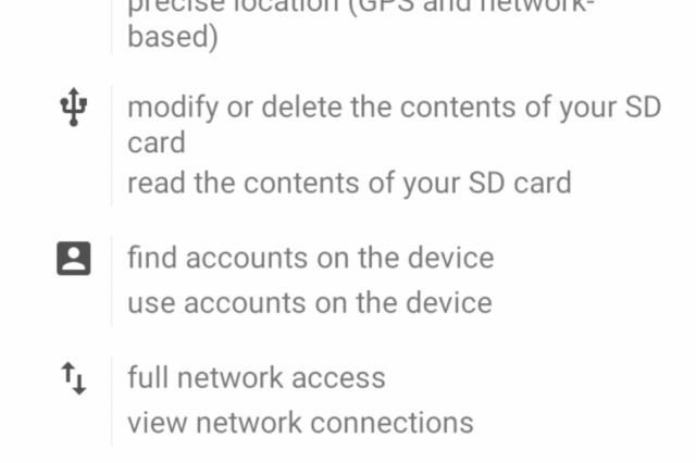 pokemon go permissions 640x426 There Is A Malicious Version Of Pokemon GO Going Around On Android
