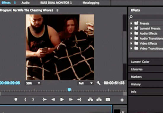 wife1 My Wife The Cheating Wh*re Video Editing Tutorial Goes Viral