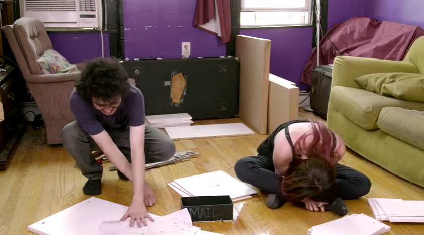 1 1 Couple Take Acid And Hilariously Try To Build IKEA Furniture