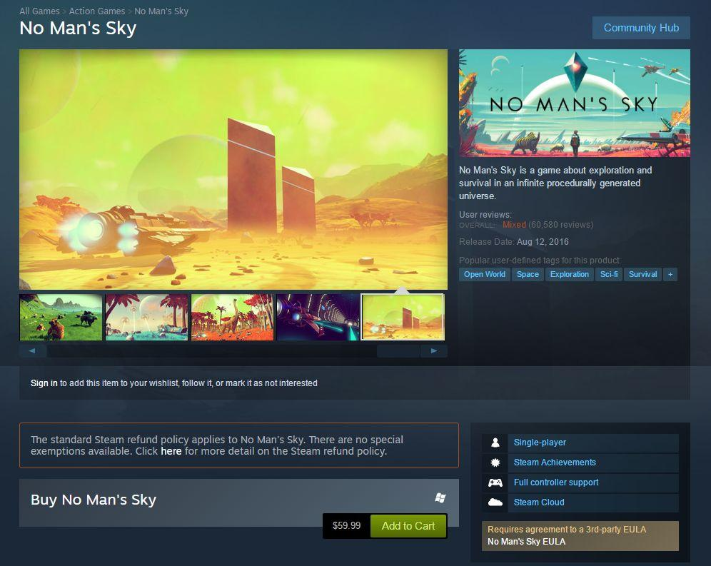3122201 nms1 No Mans Sky Refund Policy Clarified By Steam