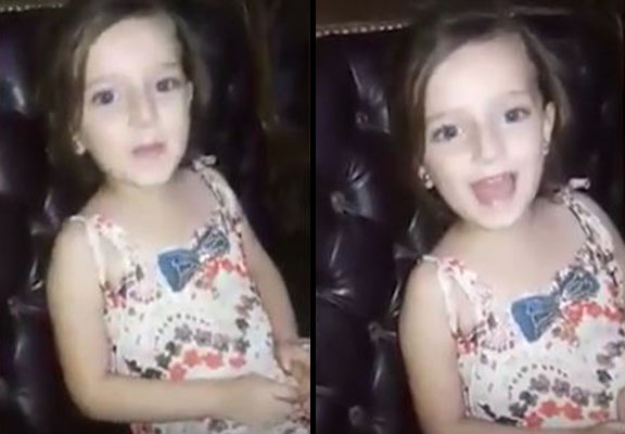 ALEPPO Syrian Girl Sings To Mum Before Bomb Explodes Outside Home