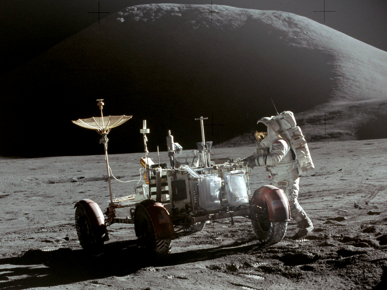 Apollo 15 Lunar Rover and Irwin North Korea Is Planning To Invade Moon And Claim It For Themselves