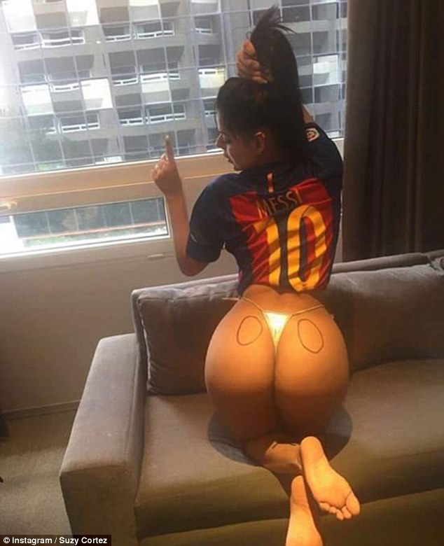 Cortez Insta 3 Miss Bumbum Launches Insane Campaign To Win Messis Affections