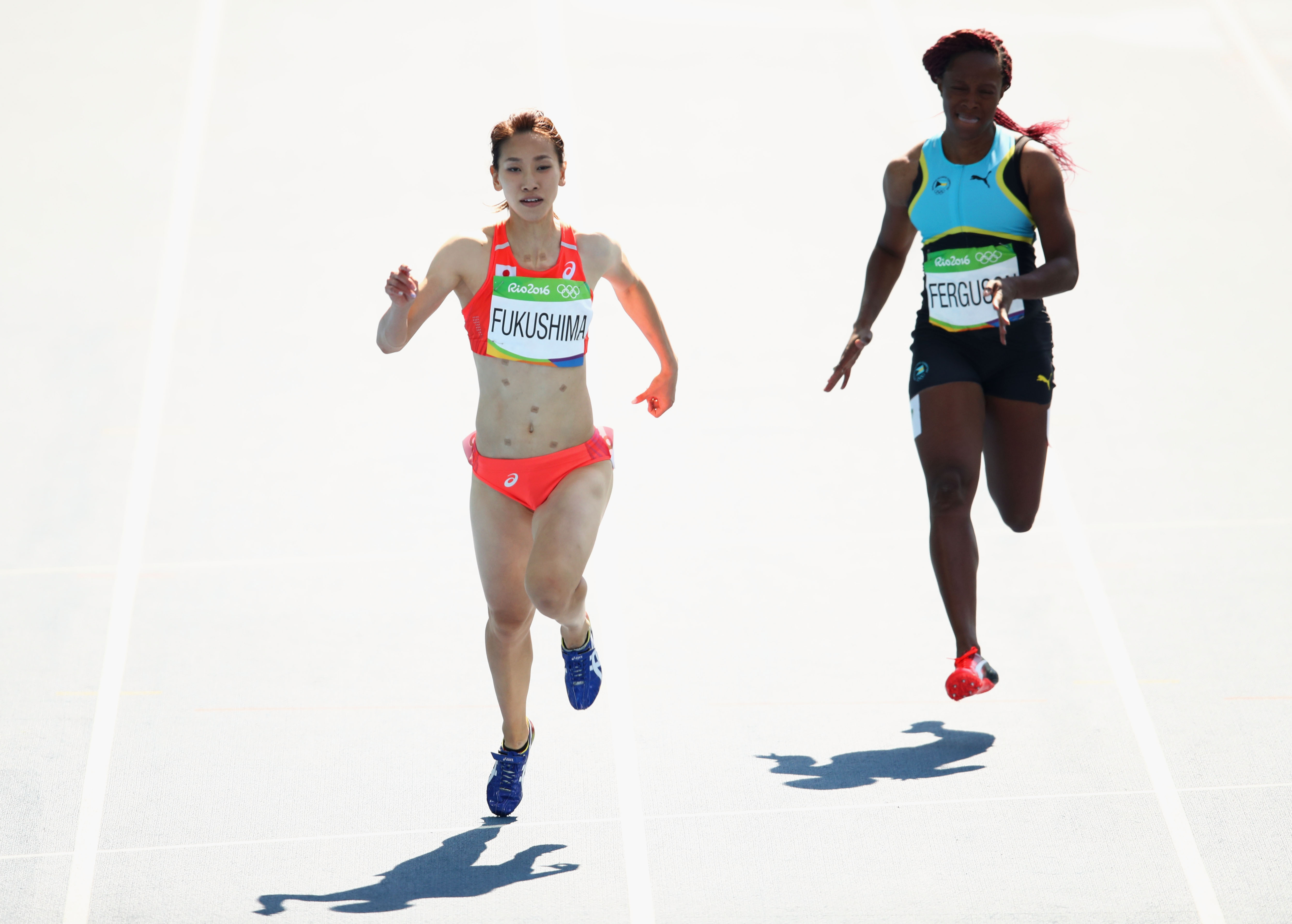 GettyImages 589706520 Heres Why Japans Chisato Fukushima Wore Patches While Running In Rio